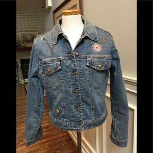 Christopher Blue beaded jean jacket
